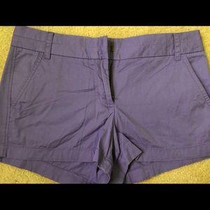 J crew Purple Chino Shorts size 6